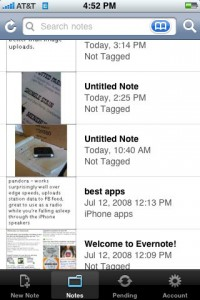 evernote for iphone